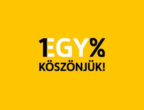 1% – Köszönjük!
